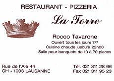 Restaurant La Torre Lausanne