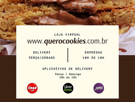 #FiqueEmCasa Com Cookies é Muito mais Gostoso!