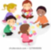 illustration-stickman-kids-playing-cards