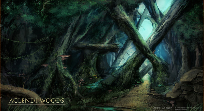 Aclendi Woods Entrance