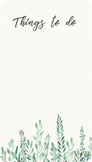 Watercolour Leaves - To Do Mini