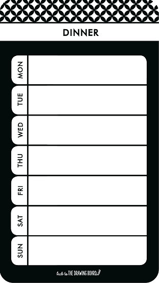 Monochrome - Meal Planner Mini