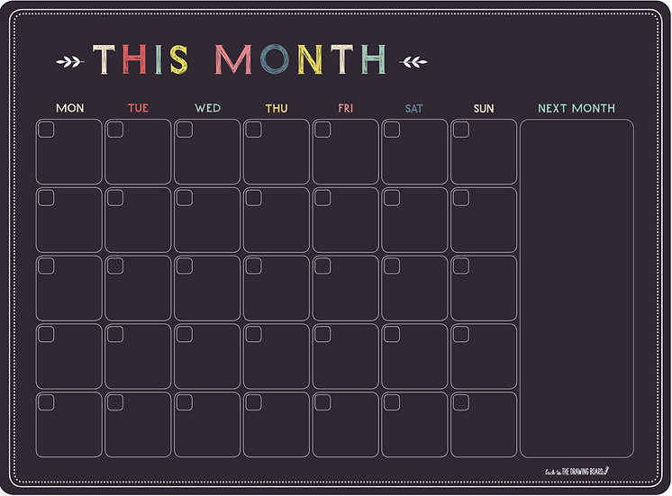 Chalkboard Style * - This Month
