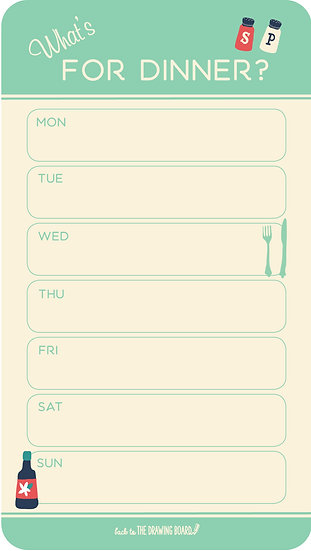 Retro Kitchen Meal Planner -Mini