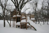 """""""Elliott's Treehouse"""" w/ 24 in. of Snow"""