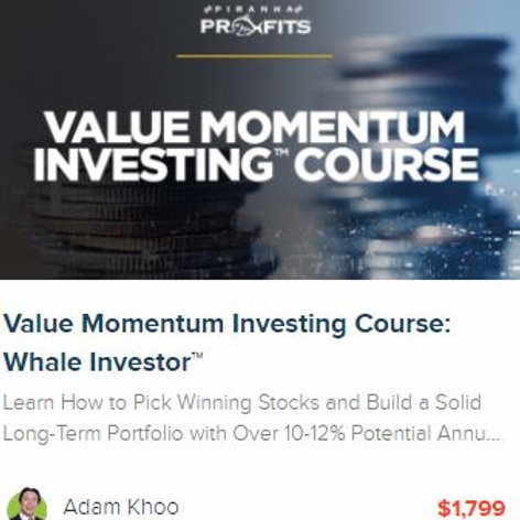 Value Momentum Investing™ Course: Whale Investor™ with future updates