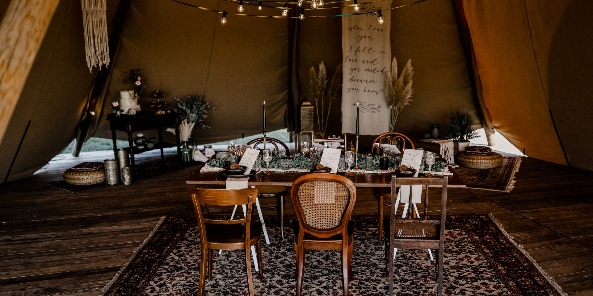 Boho/Tipi Wedding. Styled Shoot