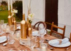 Tischdeko gold Flaschen