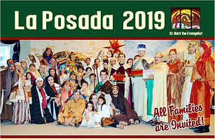 You are invited to join parish families to enjoy a live performance depicting the moments when Joseph an Mary were unable to find lodging in Bethlehem when the birth of Jesus was at hand.  After the performance stay for tamales, drinks, sweets, and pinata. Come Sunday, December 15, 2019 starting with 2:00 PM Mass. Pick up your free tickets at the Pastoral or Sunday offices.