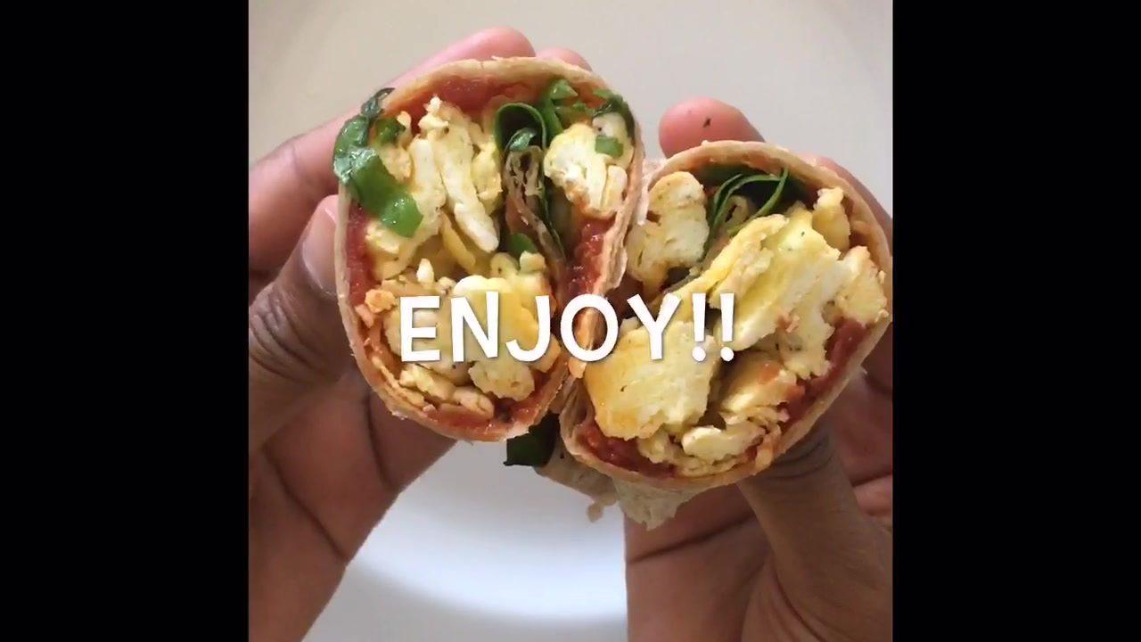 Tomato, egg & basil wrap