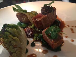Roasted veal, parsley, quinoa, gem lettuce, roasted shallot