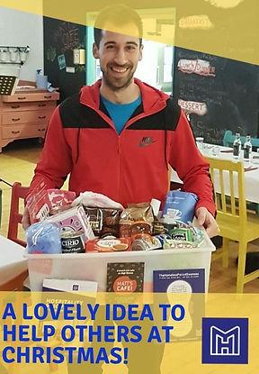 David volunteering