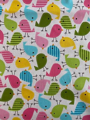 Beschichtete Baumwolle - Bunte Vögel