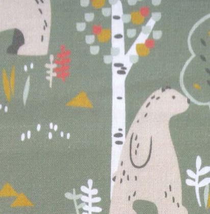 Baumwolle - Bär im Wald