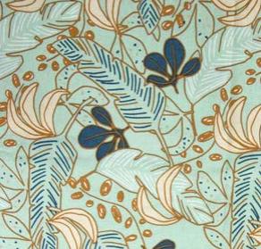 Beschichtete Baumwolle - Blätter