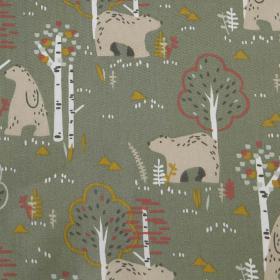 Baumwolle -Waldtiere