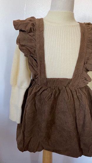 Overall velvet skirt