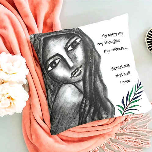 'All I need'- Portrait cushion cover