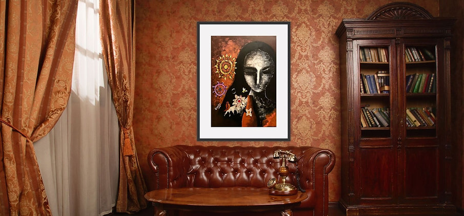 Wall decor art print of painting for beautiful home