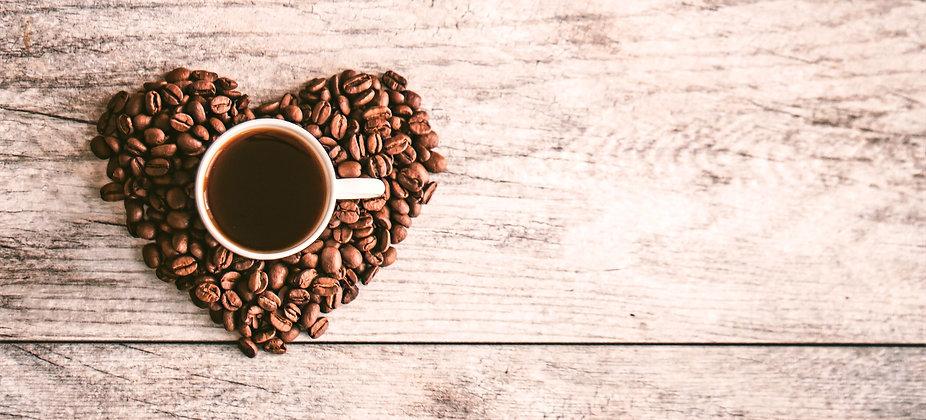 Coffee Mug Coasters with coffee beans