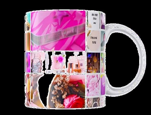 Bright Pink Collage Mug
