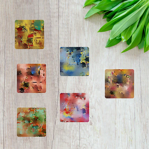 Abstract Art Designer Coaster-Set of 6