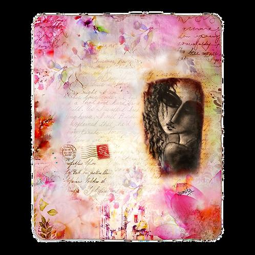 """""""Love letter' Designer Fleece blanket (50x60in)"""