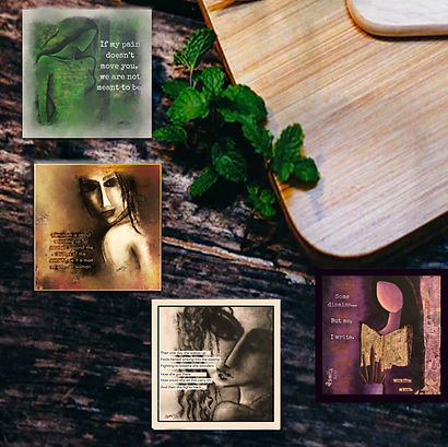 Coasters with artistic designs