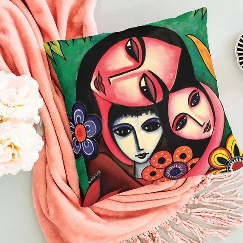 'Mother & Child'- Designer cushion cover