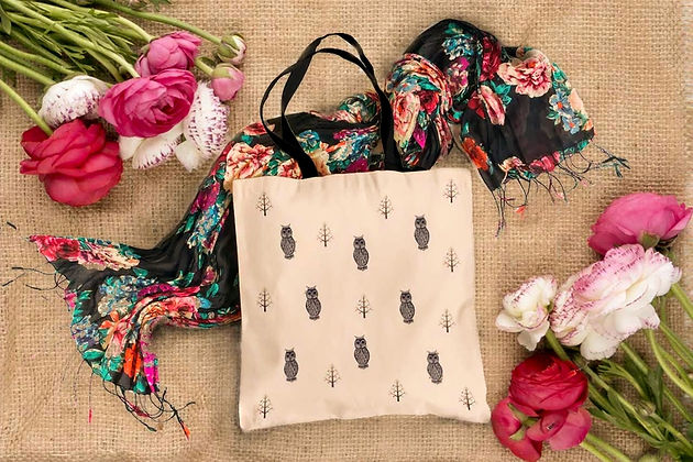 Beautiful Tote bags for shopping, school, laundry