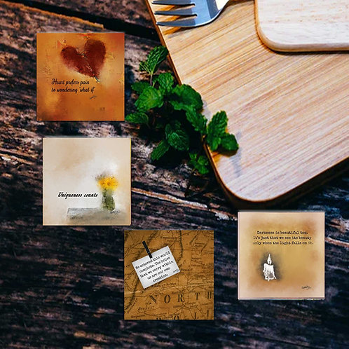 Uniquely crafted Coasters (set of 4)