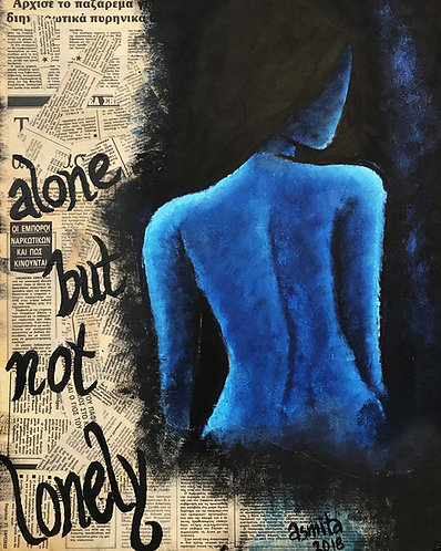 Alone but not Lonely- Wall Art Print
