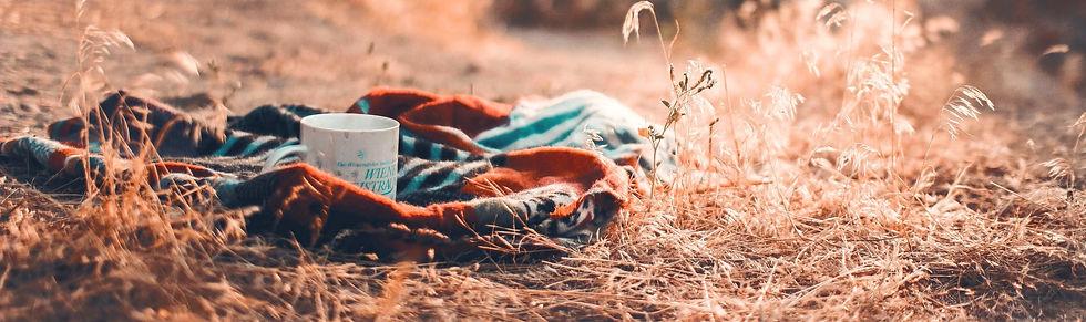 Coffee Tea Mug on a blanket