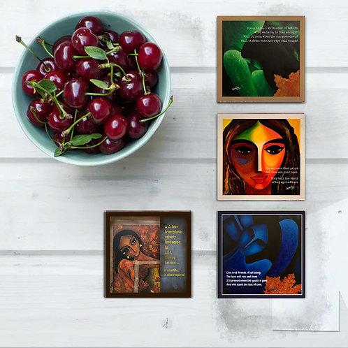 Exquisite Designer Coasters (set of 4)