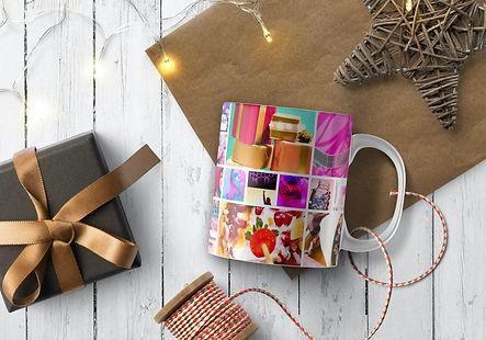 Colojurful Pink coffee mug Christmas gift