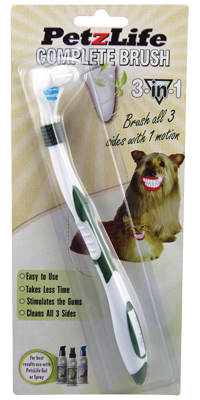 Petzlife Complete Brush (3-Sided Toothbrush)