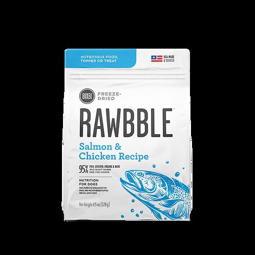 RAWBBLE FREEZE DRIED FOOD SALMON & CHICKEN RECIPE