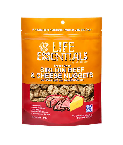 Life Essentials Freeze Dried Sirloin Beef & Cheese Nuggets 3oz