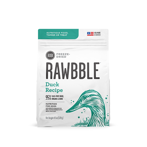RAWBBLE FREEZE DRIED FOOD DUCK RECIPE