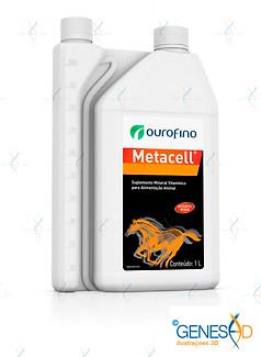 Metacell Ourofino Equinos GENESE3D Ilustração 3D
