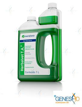 Herbalvet Ourofino Pet GENESE3D Ilustração 3D