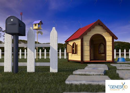 Dog house GENESE3D Ilustração 3D