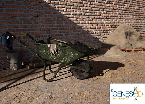 Construction site / Genese3D Ilustrações 3D