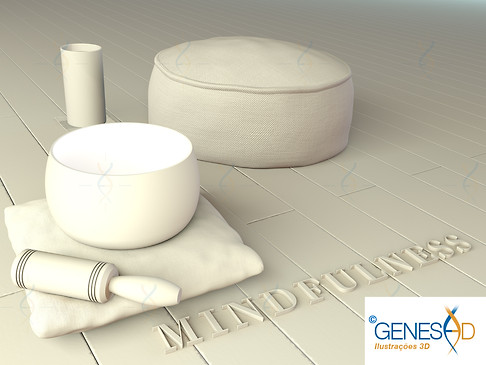 mindfulness meditation environment Light pass GENESE3D Ilustração 3D