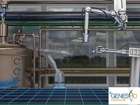 Fabric GENESE3D Ilustração 3D