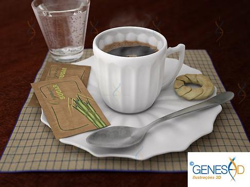 Coffee cup GENESE3D Ilustração 3D