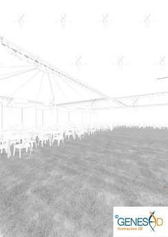 Stand Camera 01 AO Pass GENESE3D Ilustração 3D