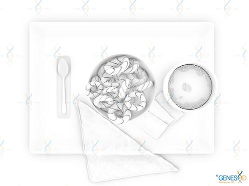 Coffee and Cookies AO Pass GENESE3D Ilustração 3D