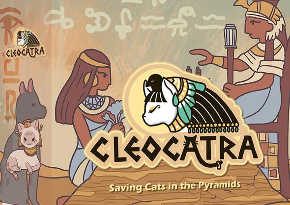 Cleocatra boardgame box 3D mockup