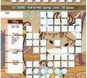 Cat Sudoku - Roll for Nile (free PNP)